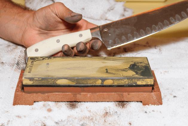 whetstone for sharpening the santoku knife