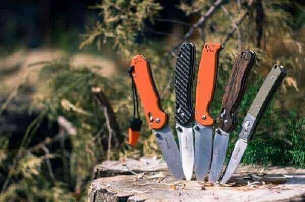 Spine a knife for sharpening